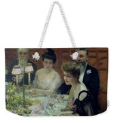 The Corner Of The Table Weekender Tote Bag by Paul Chabas