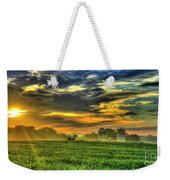 The Cornfield Dawn The Iron Horse Collection Art  Weekender Tote Bag