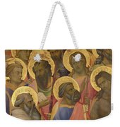 The Coronation Of The Virgin Weekender Tote Bag by Lorenzo Monaco