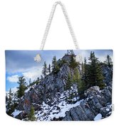 The Cosmic Ray Station Atop Sulphur Mountain, Banff, Canada Weekender Tote Bag