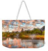 The Cotton Candy Sky Weekender Tote Bag