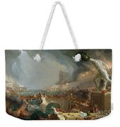 The Course Of Empire - Destruction Weekender Tote Bag by Thomas Cole