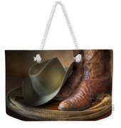 The Cowboy Boots, Hat And Lasso Weekender Tote Bag