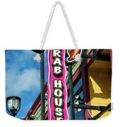 The Crab House Seafood Grill Weekender Tote Bag