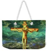 The Crucific Pop Art By Mary Bassett Weekender Tote Bag