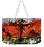 The Crucifixion #1 Weekender Tote Bag by Michael Lucarelli