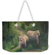 The Cubs Of Katmai Weekender Tote Bag
