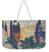 The Cypresses At Cagnes Weekender Tote Bag by Henri-Edmond Cross