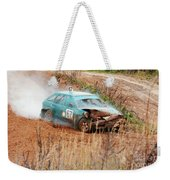 The Damaged Car In A Smoke Weekender Tote Bag