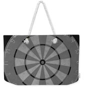 The Dart Board In Black And White Weekender Tote Bag