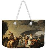 The Daughter Of Ariovistus Made Prisoner By Caesar During The Germans' Defeat Weekender Tote Bag