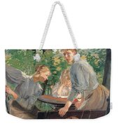 The Daughters Of The Artist In The Garden Weekender Tote Bag