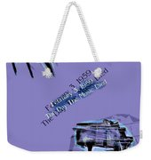 The Day The Music Died - Feb 3 1959 Weekender Tote Bag