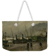 The De Ruijterkade In Amsterdam Amsterdam, October 1885 Vincent Van Gogh 1853  1890 Weekender Tote Bag