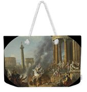 The Death Leap Of Marcus Curtius Weekender Tote Bag