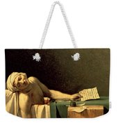 The Death Of Marat Weekender Tote Bag