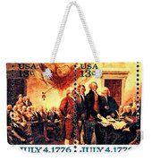 The Declaration Of Independence  Weekender Tote Bag by Lanjee Chee