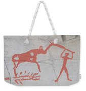 The Deer And Female Hunter Weekender Tote Bag