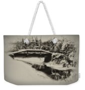 The Delaware Canal At Washingtons Crossing  Weekender Tote Bag
