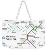 The Denver Pubway Map Weekender Tote Bag