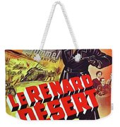 The Desert Fox  James Mason Theatrical Poster Number 2 1951 Color Added 2016 Weekender Tote Bag