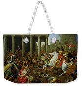 The Destruction Of The Temples In Jerusalem By Titus Weekender Tote Bag by Nicolas Poussin