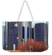 The Detroit Renaissance Center Weekender Tote Bag by Gordon Dean II