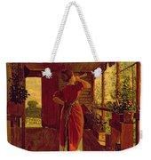 The Dinner Horn Weekender Tote Bag by Winslow Homer