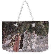 The Disciples On The Road To Emmaus Weekender Tote Bag