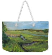 The Distant View Of The Marsh Weekender Tote Bag