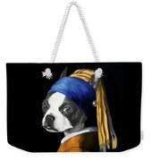 The Dog With A Pearl Earring Weekender Tote Bag