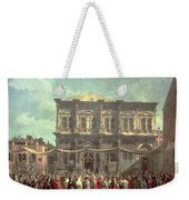 The Doge Visiting The Church And Scuola Di San Rocco Weekender Tote Bag