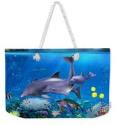 The Dolphin Family Weekender Tote Bag