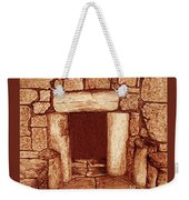 The Door Of Humility At The Church Of The Nativity Bethlehem Weekender Tote Bag