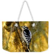 The Downy Woodpecker Weekender Tote Bag