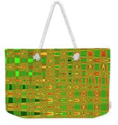The Dreaded Bull Head Sticker Yellow Flower Abstract Weekender Tote Bag