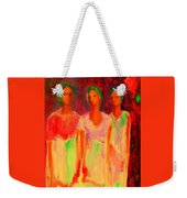 The Drums Of Africa Weekender Tote Bag by Johanna Elik