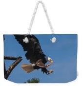 The Eagle Is Landing Weekender Tote Bag