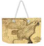 The Eagle Map Of The United States  Weekender Tote Bag