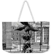 The Eagle - Widener University In Black And White Weekender Tote Bag