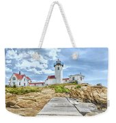 The Eastern Point Lighthouse In Gloucester Weekender Tote Bag