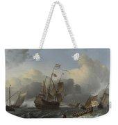 The Eendracht And A Fleet Of Dutch Men Of War Weekender Tote Bag