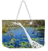 The Egret And The Dragonfly Weekender Tote Bag