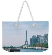 The Eiffel Tower And The Seine River Weekender Tote Bag