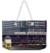 The El In Chicago Weekender Tote Bag