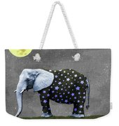 The Elephant And The Moon Weekender Tote Bag