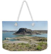 The Elephant At Elephant Butte Lake  Weekender Tote Bag by Allen Sheffield