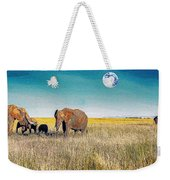 The Elephant Herd Weekender Tote Bag