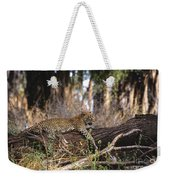 The Elusive Leopard Weekender Tote Bag