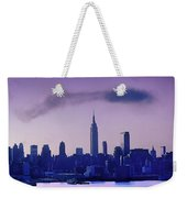 The Empire State Building In New York At 6 A. M. In January Weekender Tote Bag